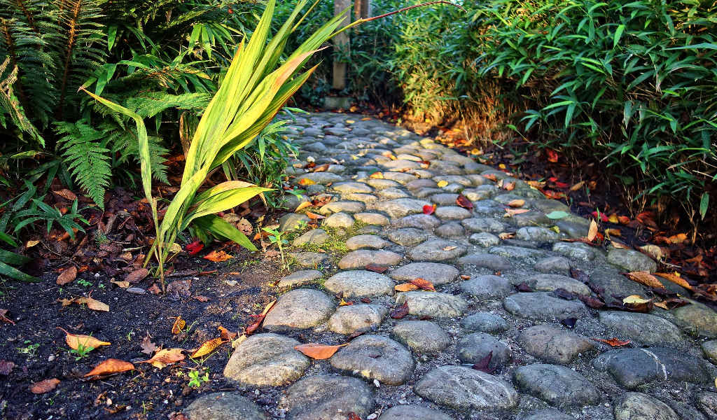 Walkway Landscaping With Granite